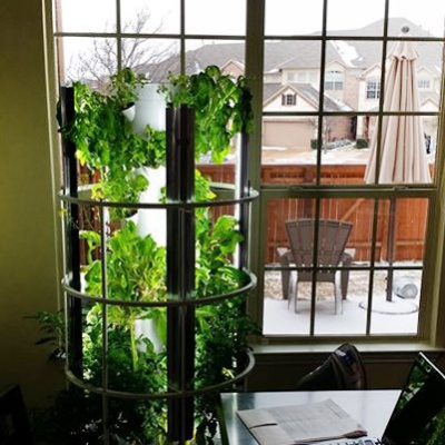 Tower Garden requires less water and space